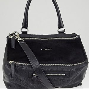Reduced!! GIVENCHY Black Ponyhair/Leather Pandora